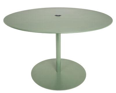 Table ronde FormiTable XL / Métal - Ø 120 cm - Fatboy vert industriel en métal