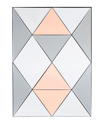 Decoration - Mirrors - Rhomb Free standing mirrors - / 50 x 70 cm by House Doctor - Grey & pink - Glass, Iron, MDF