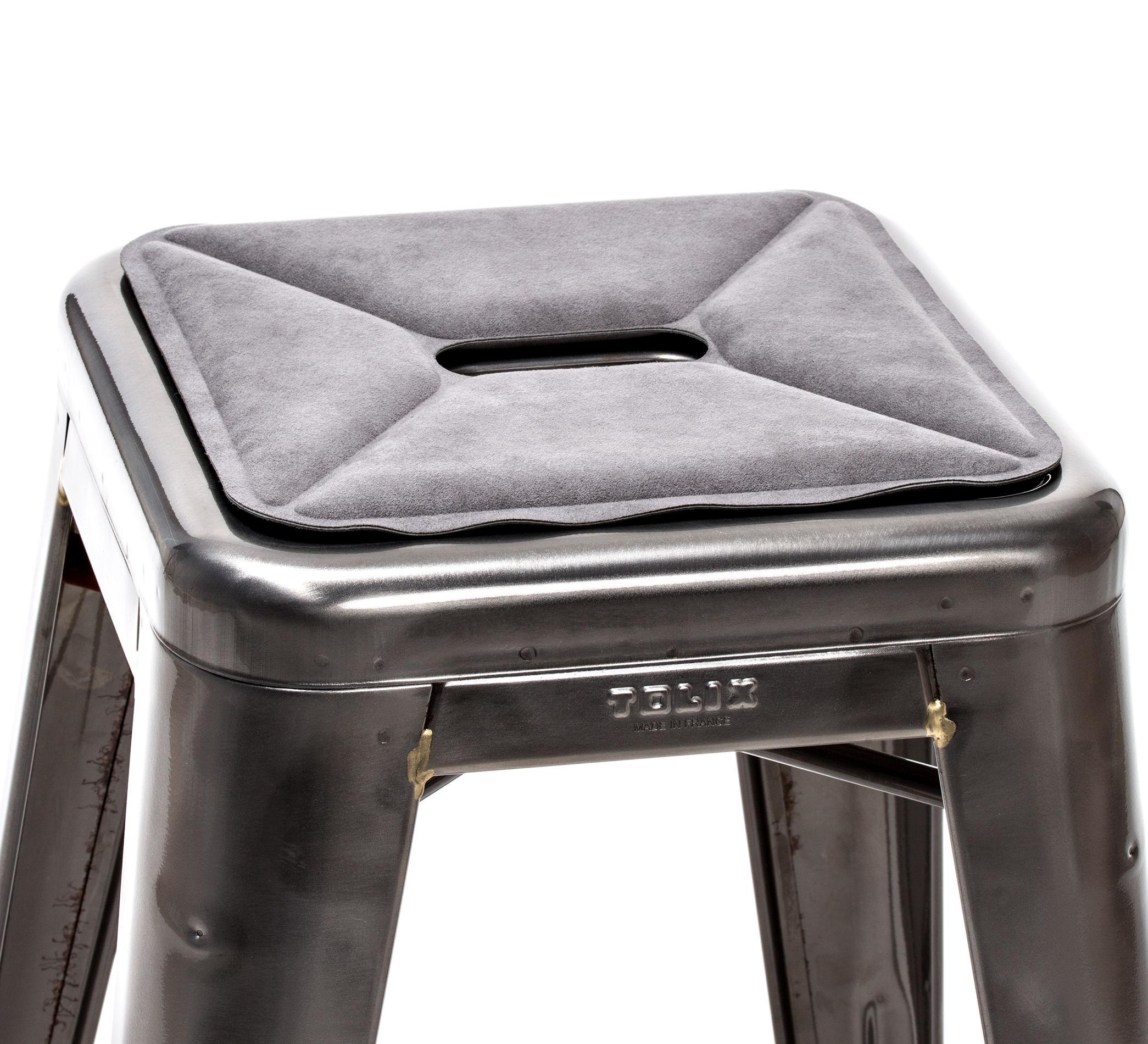 Déco - Coussins - Galette d'assise / Tissu - Pour tabourets - Tolix - Tissu / Gris - Tissu