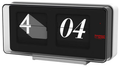 Déco - Horloges  - Horloge murale Font Clock - Established & Sons - Noir / blanc - 29 x 14 cm - ABS, Verre