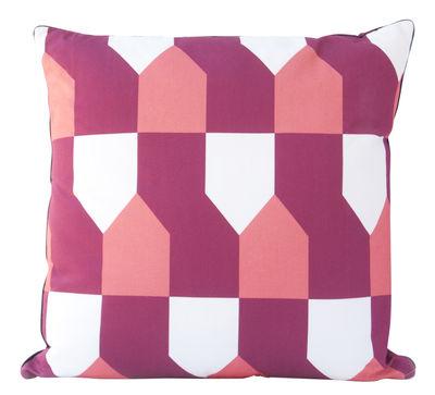 Dekoration - Kissen - Octave Kissen / 50 x 50 cm - Hartô - Bordeaux / korallrot - Baumwolle, Polyesterfaser