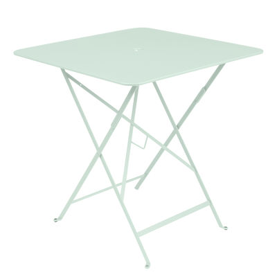 Outdoor - Tische - Bistro Klapptisch / 71 x 71 cm - Loch für den Sonnenschirm - Fermob - Gletscherminze - lackierter Stahl