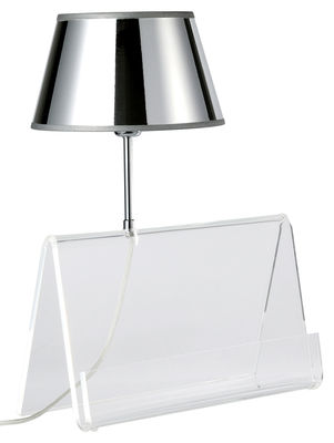 Illuminazione - Lampade da tavolo - Lampada da tavolo L'Empirique di Designheure - Trasparente / Argento - Acrilico, PVC metallizzato