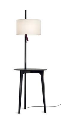 Lampadaire Carla / Table d'appoint - Carpyen noir en bois