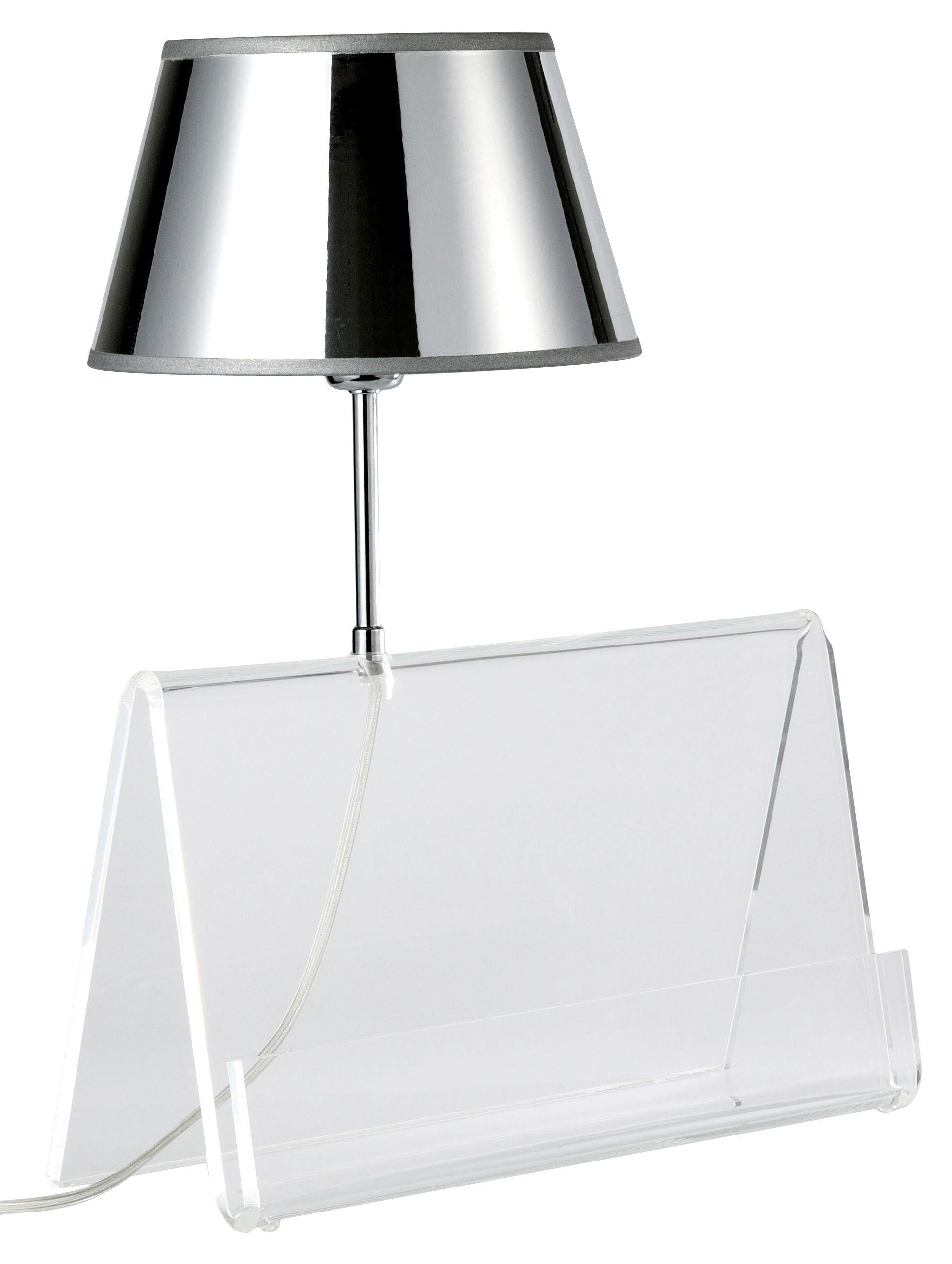 Luminaire - Lampes de table - Lampe de table L'Empirique - Designheure - Transparent / Argent - Acrylique, PVC métallisé