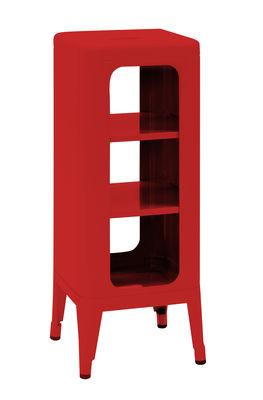 Meuble de rangement / H 75 cm - Acier laqué - Tolix rouge en métal