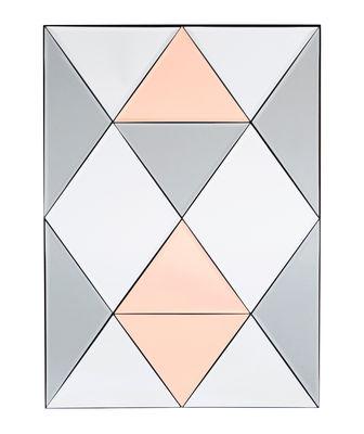 Miroir à poser Rhomb / 50 x 70 cm - House Doctor rose/gris/miroir en métal/verre