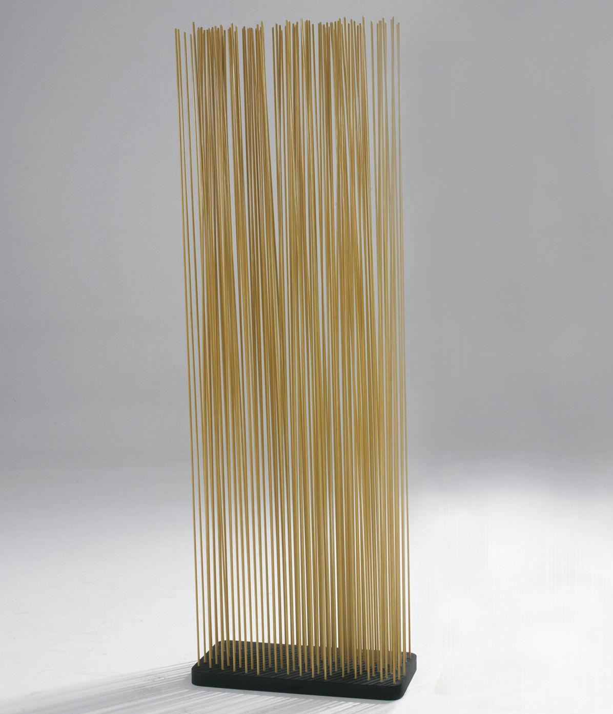 Mobilier - Paravents, séparations - Paravent Sticks / L 60 x H 180 cm - Intérieur & extérieur - Extremis - Naturel - Caoutchouc recyclé, Fibre de verre renforcée