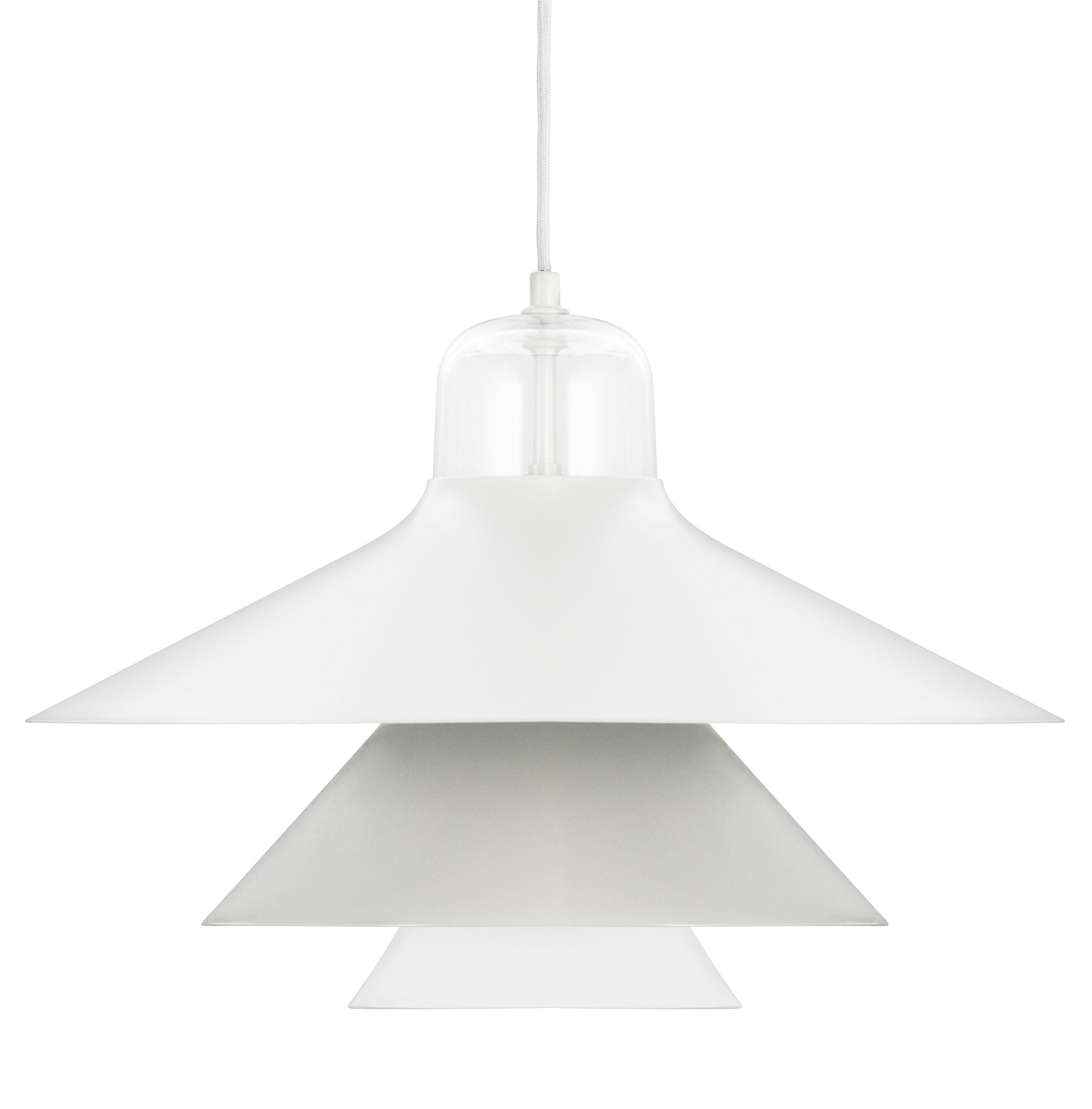 Lighting - Pendant Lighting - Ikono Large Pendant by Normann Copenhagen - Grey - Glass, Lacquered steel