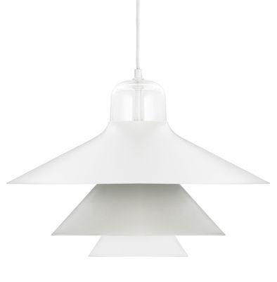 Leuchten - Pendelleuchten - Ikono Large Pendelleuchte / Ø 45 cm - Normann Copenhagen - Grau - Glas, lackierter Stahl