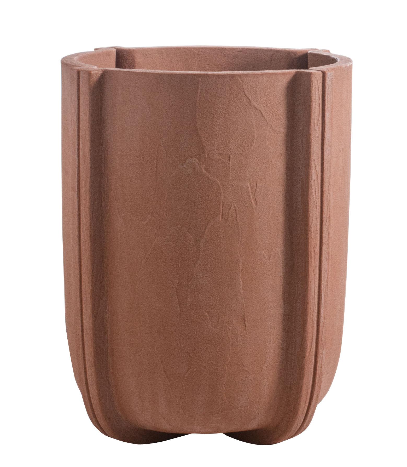 Outdoor - Pots et plantes - Pot de fleurs Cassero / Ø 60 x H 70 cm - Plastique effet béton - Serralunga - Terre cuite - Polyéthylène