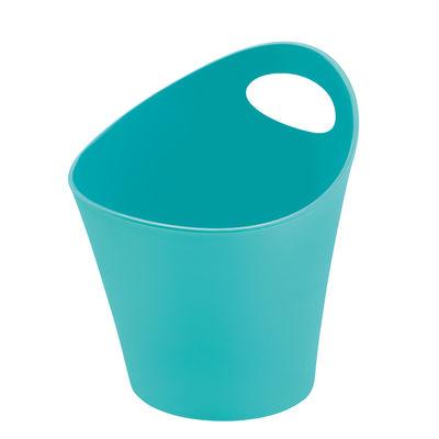 Pot Pottichelli XS / Ø 15 x H 9 cm - Koziol turquoise opaque en matière plastique