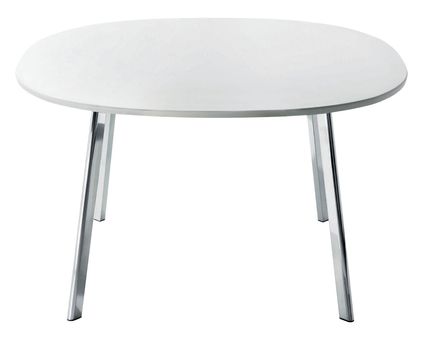 Möbel - Tische - Déjà-vu quadratischer Tisch 98 cm - Magis - 98 x 98 cm - Platte: weiß - lackierte Holzfaserplatte, poliertes Aluminium