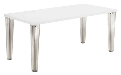Furniture - Dining Tables - Top Top Rectangular table - 160 cm - lacquered table top by Kartell - White - Lacquered polyester, Polycarbonate
