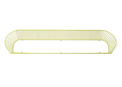 Möbel - Regale und Bücherregale - Loop Regal L 158 cm - Petite Friture - zitronengelb - bemalter Stahl