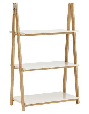 Möbel - Regale und Bücherregale - One Step Up Regal / 3 Stufen - Normann Copenhagen - Weiß - Holz natur - Esche, Stahl