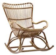 Rocking chair Monet Sika Design antique en fibre végétale