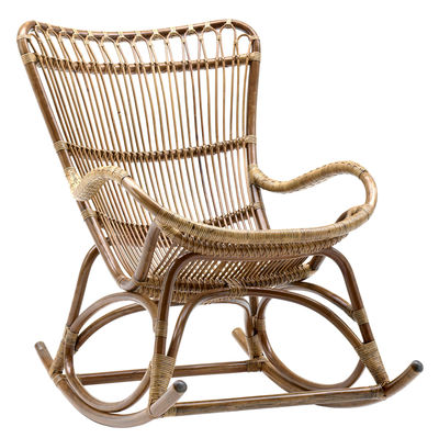 Rocking chair Monet - Sika Design marron/beige en fibre végétale