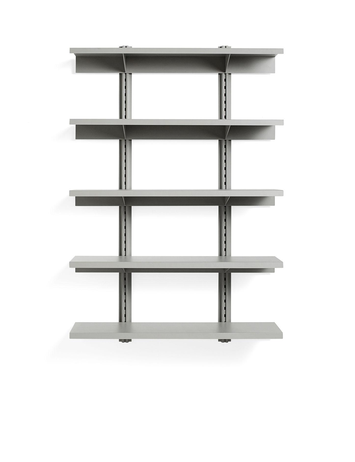 Arredamento - Scaffali e librerie - Scaffale Standard Issue - / L 120 x H 180 cm - Acciaio di Hay - Grigio - Acier laqué époxy