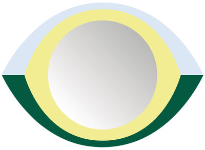 Dekoration - Spiegel - The Eye Selbstklebende Spiegel / 48 x 35 cm - Domestic - The Eye / mehrfarbig - Perspex