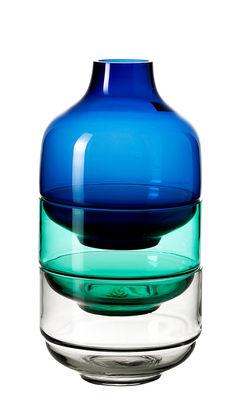 Set Fusione S / 2 coupes + 1 vase - H 27,5 cm - Leonardo transparent,violet,ambre en verre