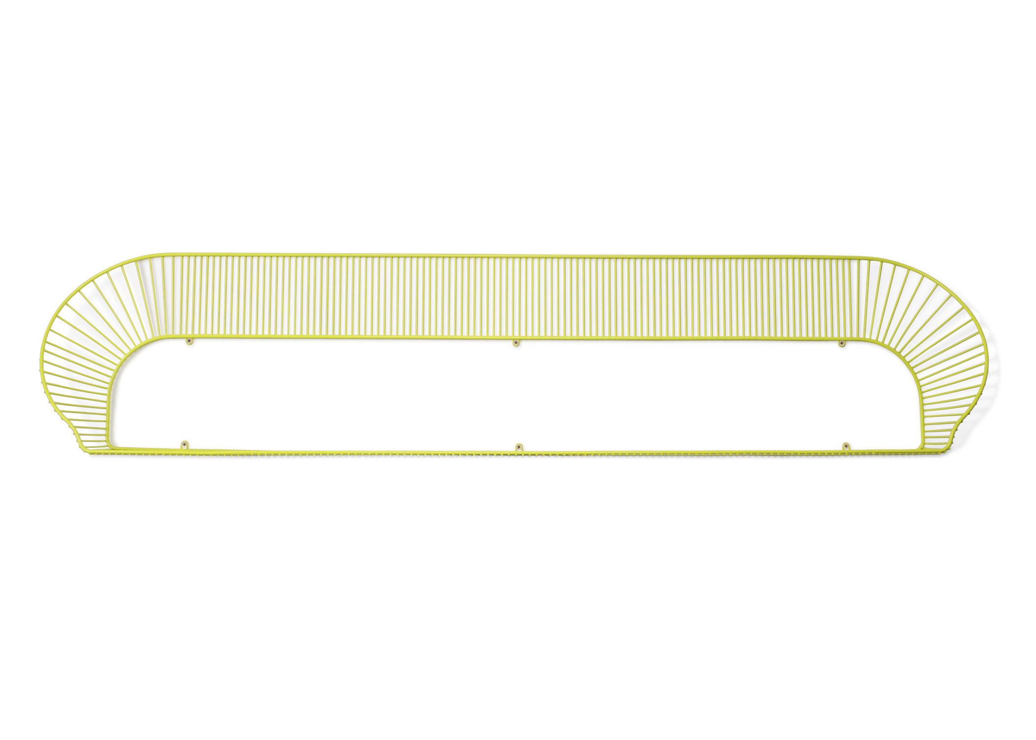 Furniture - Bookcases & Bookshelves - Loop Shelf - L 158 cm by Petite Friture - Yellow - Painted steel