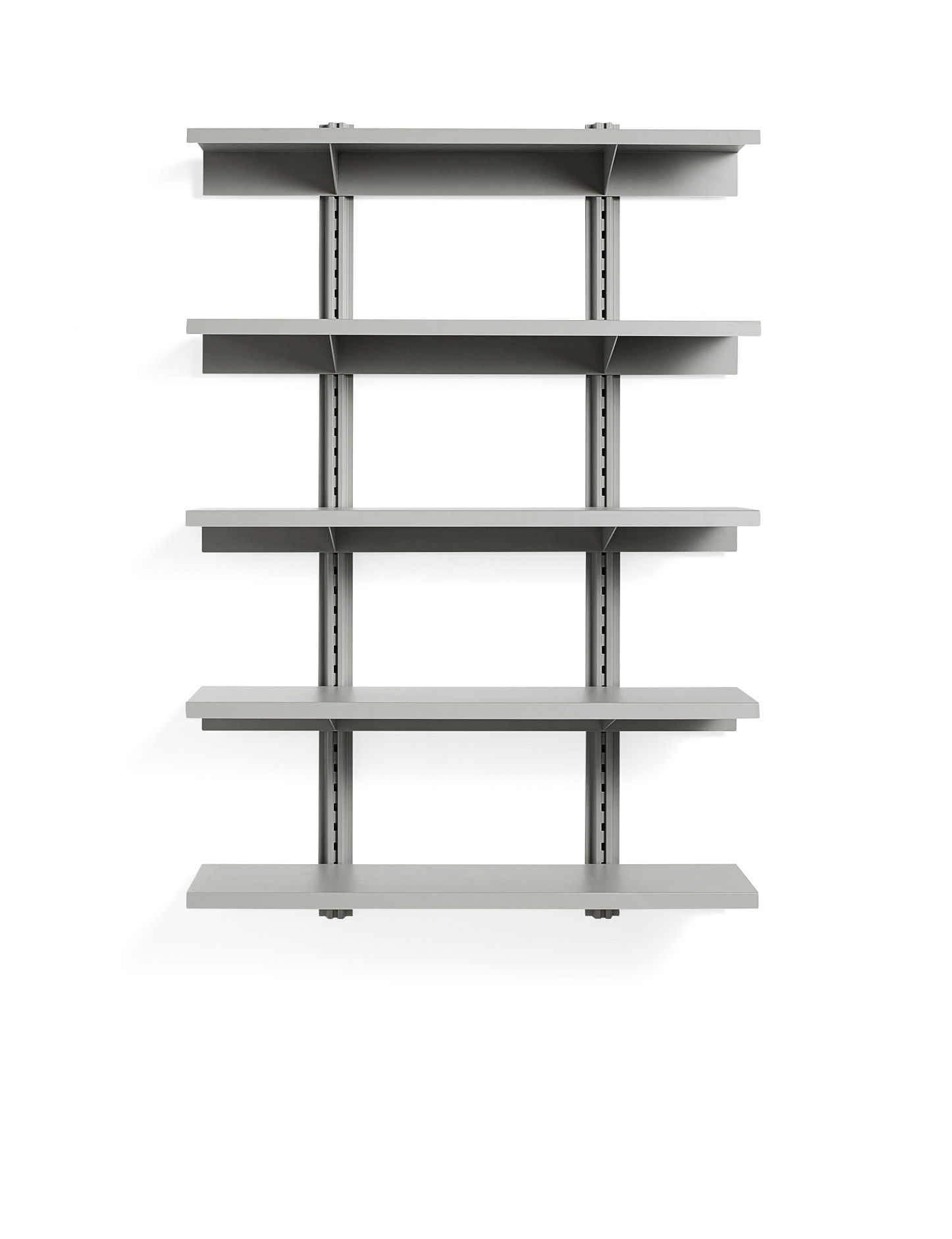 Furniture - Bookcases & Bookshelves - Standard Issue Shelf - / L 120 x H 180 cm - Steel by Hay - Grey - Epoxy lacquered steel