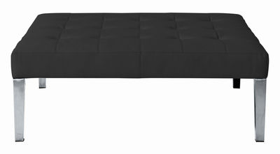 Möbel - Sitzkissen - Monseigneur Sitzkissen - Driade - schwarzes Leder - Leder, verchromter Stahl