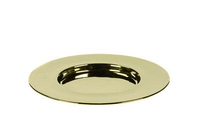 Tavola - Piatti  - Sottopiatto San Pellegrino - / Small - Ø 22 cm di Serax - Dorato - Porcellana