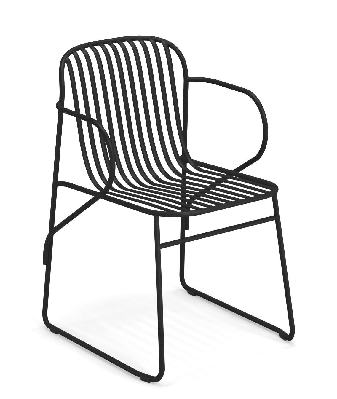 Furniture - Chairs - Riviera Stackable armchair - / Metal by Emu - Black - Varnished steel