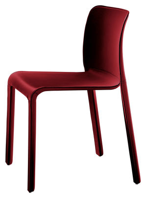 Furniture - Chairs - First Chair Stacking chair - Leather by Magis - Red - Leather