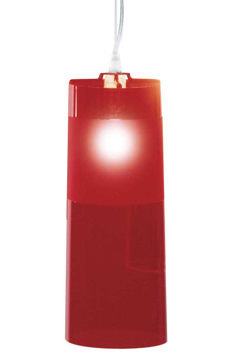 Luminaire - Suspensions - Suspension Easy - Kartell - rouge - Polycarbonate