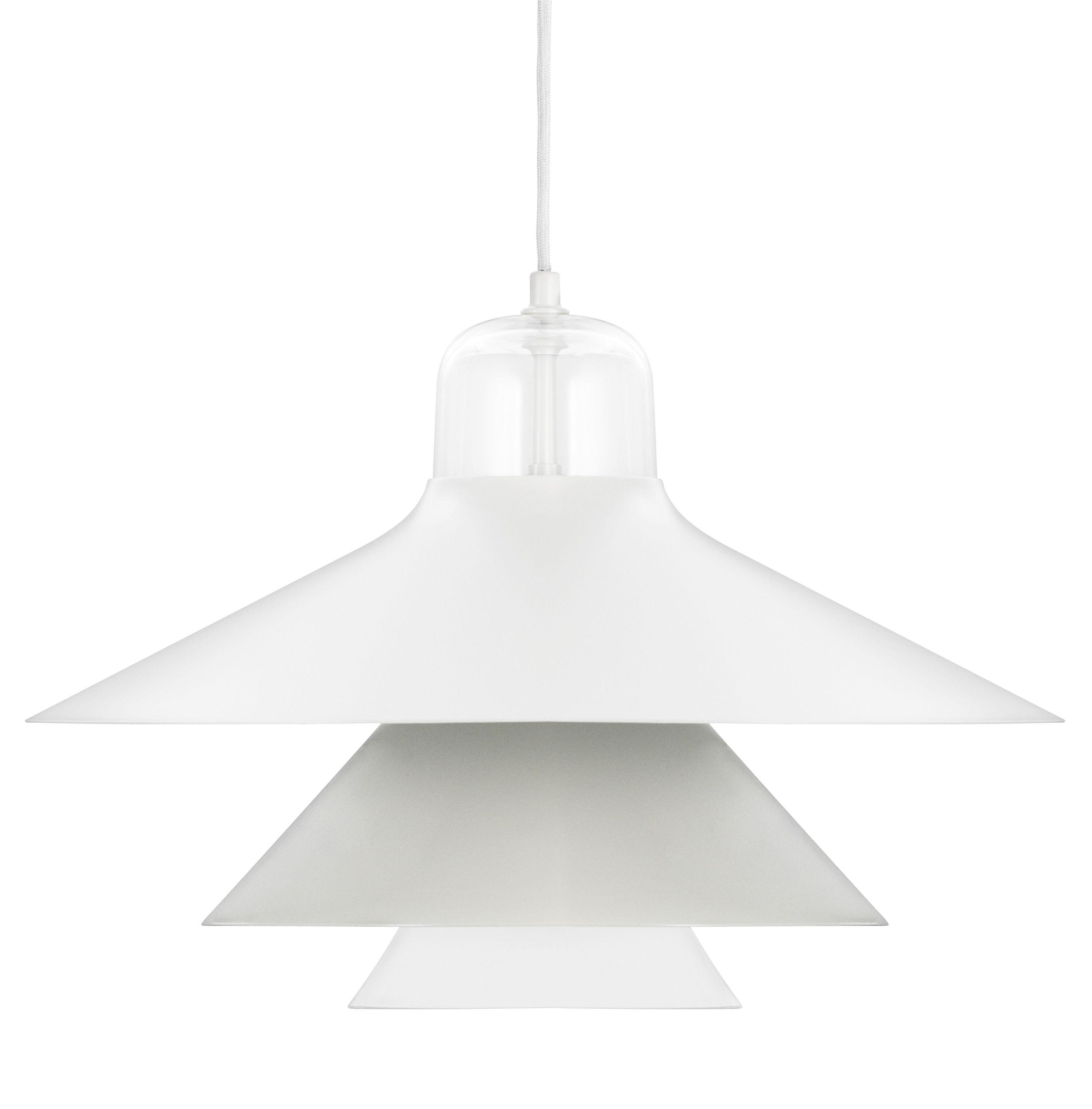 Luminaire - Suspensions - Suspension Ikono Large / Ø 45 cm - Normann Copenhagen - Gris - Acier laqué, Verre