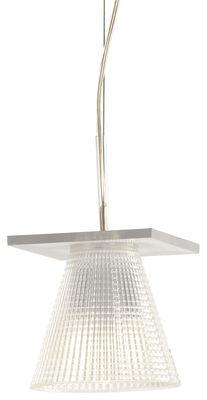 Luminaire - Suspensions - Suspension Light-Air / Abat-jour plastique sculpté - Kartell - Plastique cristal - Technopolymère thermoplastique