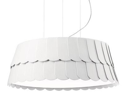 Suspension Roofer Ø 59 x H 22,5 cm - Fabbian blanc en matière plastique