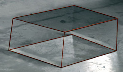 Table basse Wireframe 60 x 57 cm - Glas Italia orange/transparent en verre