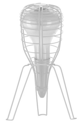 Lighting - Table Lamps - Cage Rocket Table lamp by Diesel with Foscarini - White / white foot - Blown glass, Metal