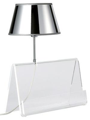 Lighting - Table Lamps - L'Empirique Table lamp by Designheure - Transparent / Silver - Acrylic, Metallic PVC