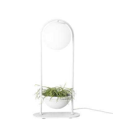 Lighting - Table Lamps - Table lamp - / Avec pot de fleurs - Ø 15 cm by Bloomingville - White - Metal