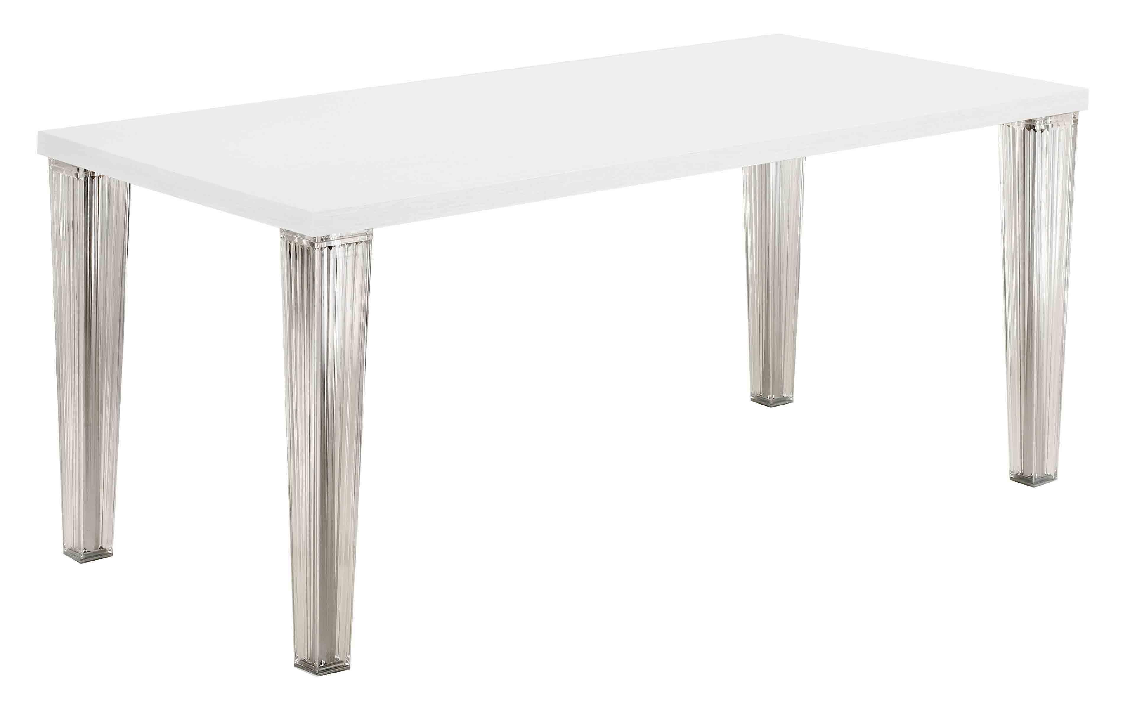 Mobilier - Tables - Table rectangulaire Top Top / Laquée - L 160 cm - Kartell - Blanc - Polycarbonate, Polyester laqué