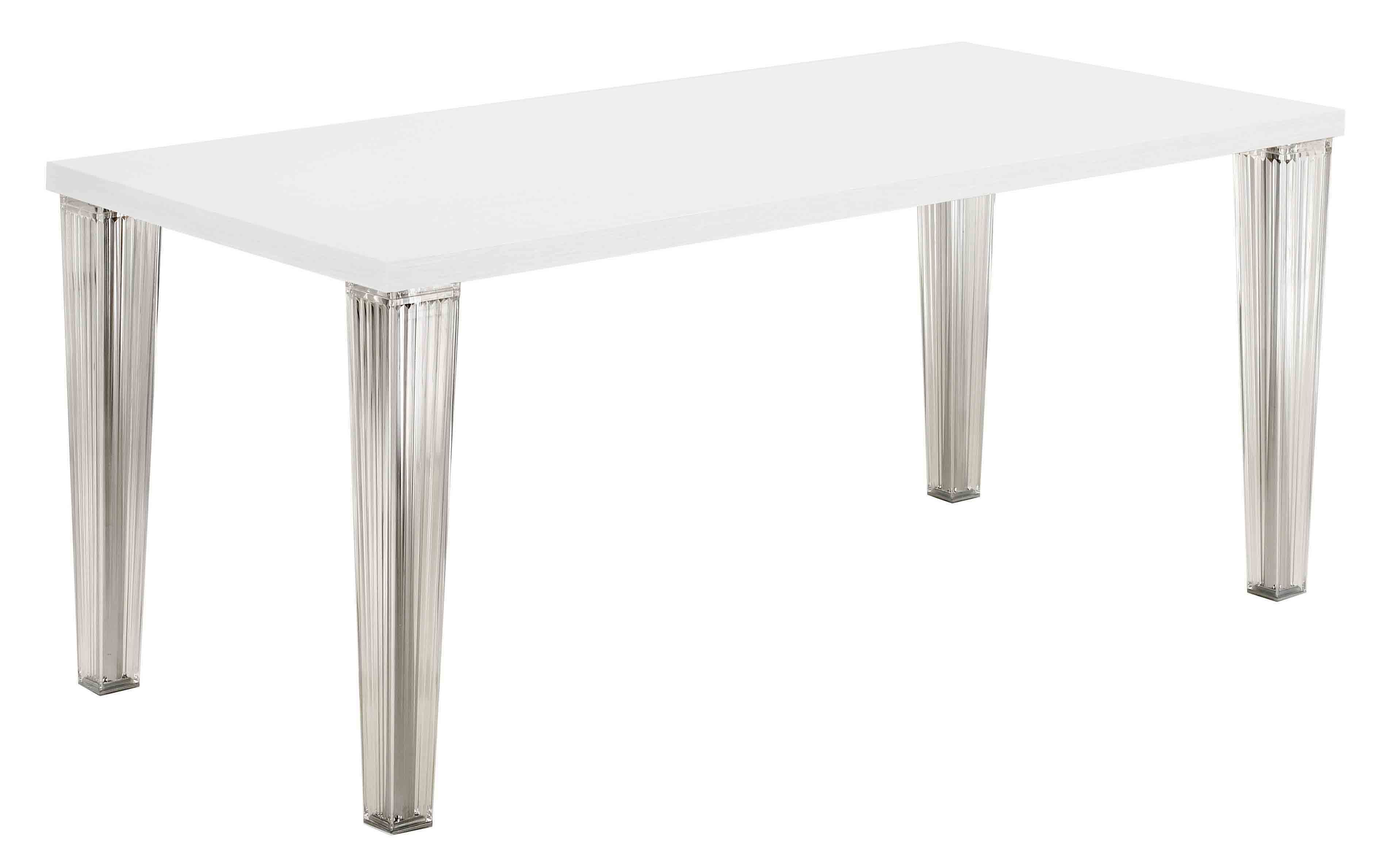 Furniture - Dining Tables - Top Top Table - 160 cm - lacquered table top by Kartell - White - Lacquered polyester, Polycarbonate