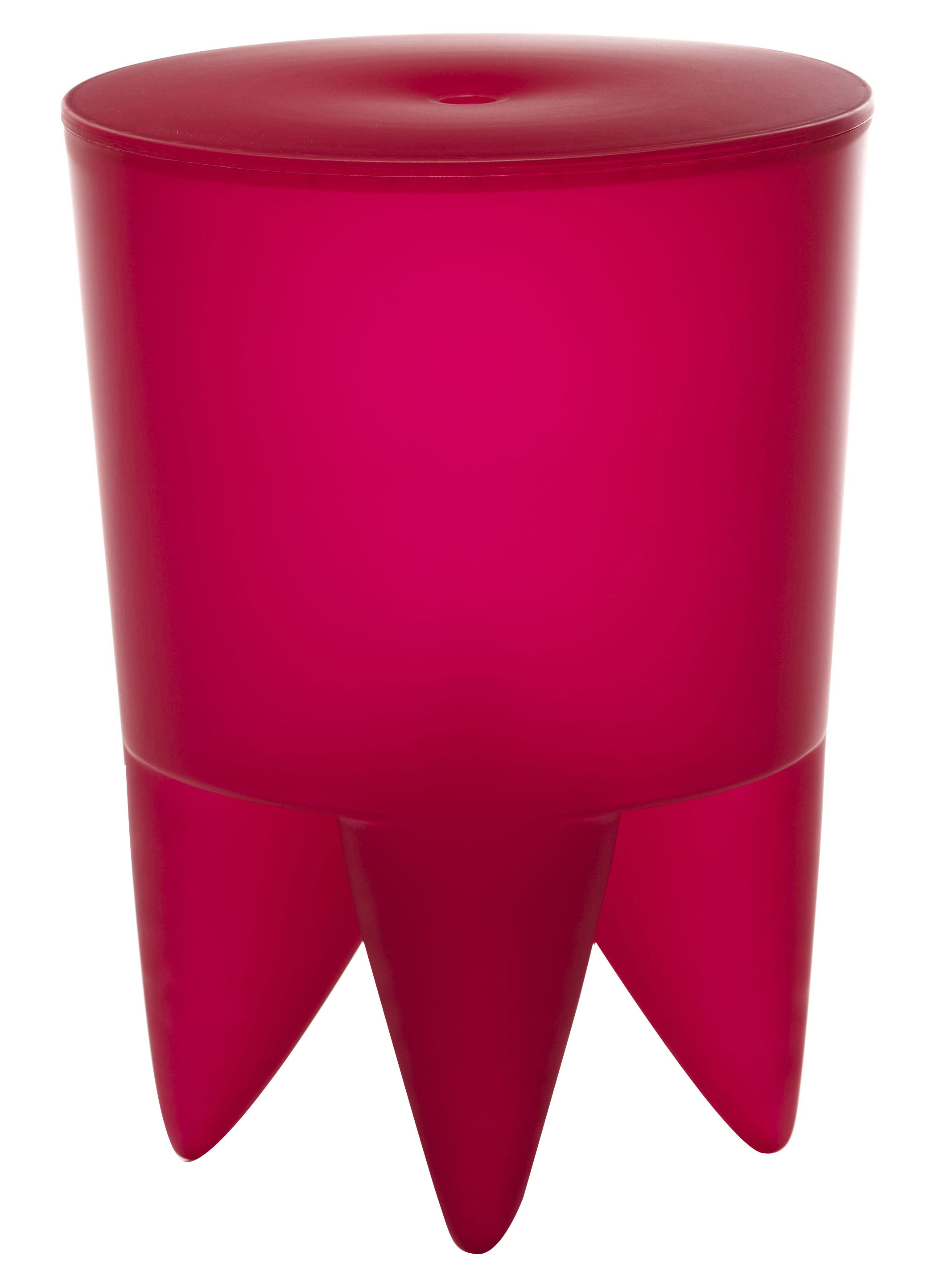 Mobilier - Mobilier Ados - Tabouret New Bubu 1er / Coffre - Plastique - XO - Bubble gum translucide - Polypropylène