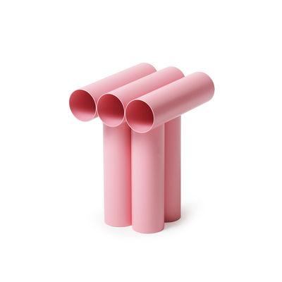 Mobilier - Tabourets bas - Tabouret Septem / Tubes aluminium - Axel Chay - Rose - Aluminium thermolaqué