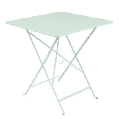 Outdoor - Tavoli  - Tavolo pieghevole Bistro - / 71 x 71 cm - Foro per ombrellone di Fermob - Menta glaciale - Acciaio laccato