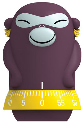 Kitchenware - Kitchen Equipment - Josephine Banana Timer by A di Alessi - Brown & yellow - Thermoplastic resin