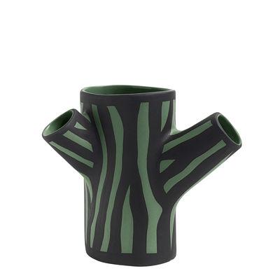 Vase Tree Trunk Small / H 15 cm - Peint à la main - Hay vert foncé en céramique