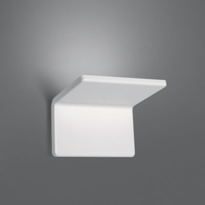Lighting - Wall Lights - Cuma 20 Wall light - LED / L 20 cm by Artemide - L 20 cm - White - Painted aluminium, Thermoplastic material