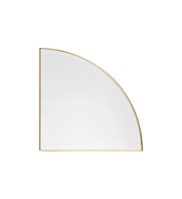 Decoration - Mirrors - Unity Wall mirror - / Quarter-circle - L 25 cm by AYTM - L 25 cm / Gold - Glass, Steel