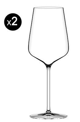 Tischkultur - Gläser - Etoilé Blanc Weißweinglas / Set aus 2 Weißweingläsern - Italesse - Transparent - 55 cl - Glas