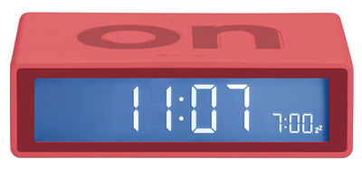 Accessories - Alarm Clocks & Travel Radios - Flip Alarm clock by Lexon - Warm red - ABS, Rubber